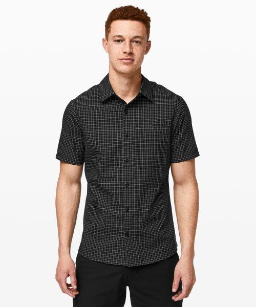 Grid Light 男士运动短袖衬衫