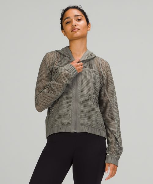 Relaxed Fit Mesh 女士运动夹克