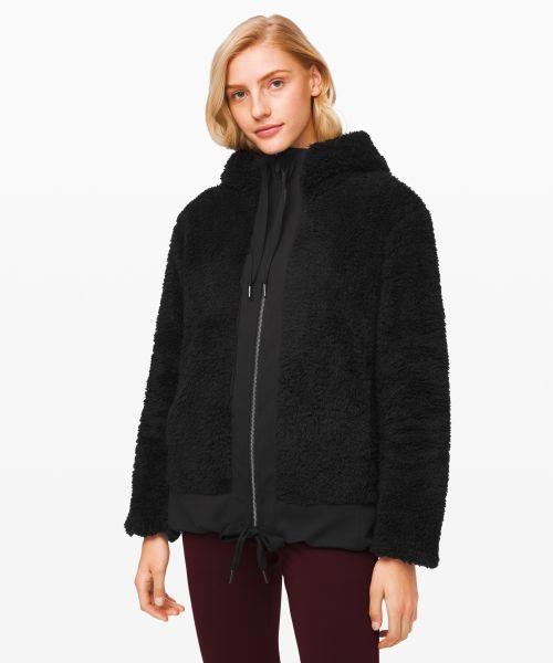 Warm Restore Sherpa 女士运动全拉链衫