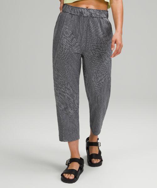 Stretch 女士高腰中长裤
