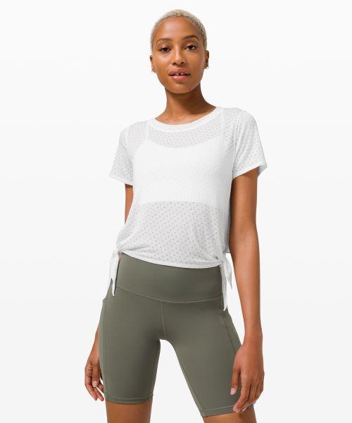 女士运动短袖 T 恤 *瑜伽 Side Tie