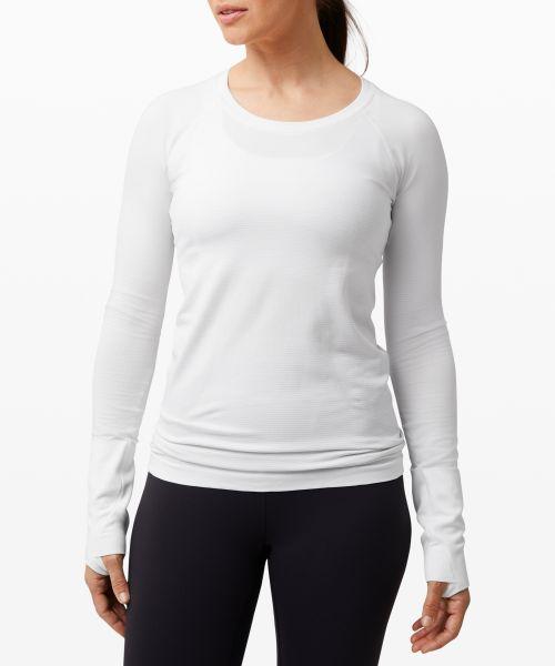 Swiftly Tech 女士运动长袖 T 恤 2.0