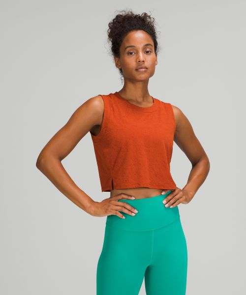 Cropped 女士运动短背心