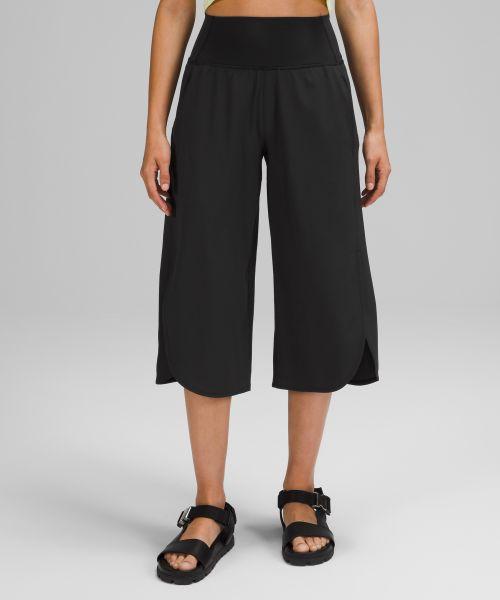 Wide Leg Side Wrap 女士高腰中长裤