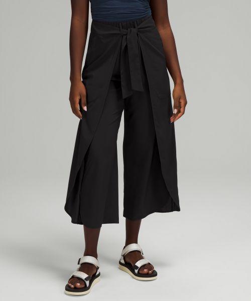 Wrap Front 女士阔腿高腰中长裤
