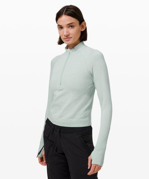 Rest Less 女士运动短款半拉链衫