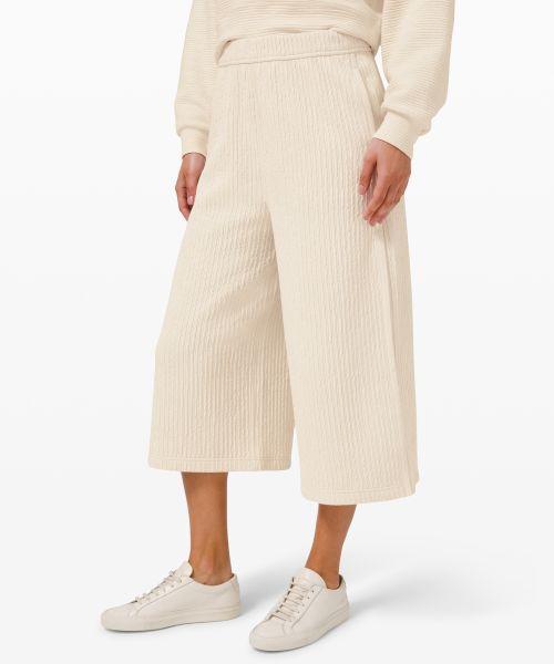 Textured 女士阔腿中长裤